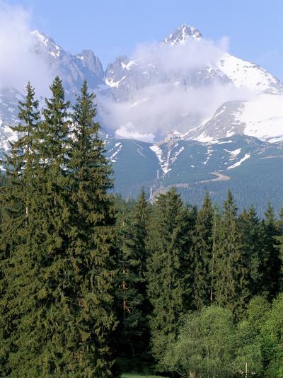 High Tatra Mountains from Tatranska Lomnica, Slovakia-Upperhall-Photographic Print