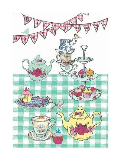 High Tea Birthday, 2013-Anna Platts-Giclee Print