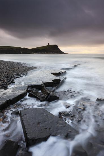High Tide around the Broken Ledges on Kimmeridge Bay Shores, on the Jurassic Coast, Dorset, England-Adam Burton-Photographic Print
