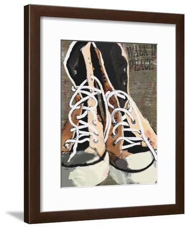 High Tops for Peace - Vintage Sneakers-Lisa Weedn-Framed Giclee Print