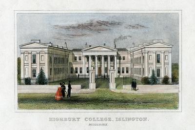 Highbury College, Islington, London, Mid 19th Century--Giclee Print