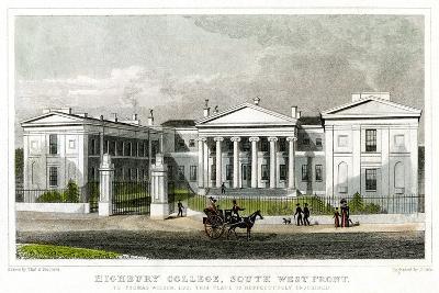 Highbury College, South-West Front, Islington, London, 1827-Thomas Dale-Giclee Print