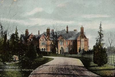 Highbury, Mr Chamberlain's Residence--Photographic Print