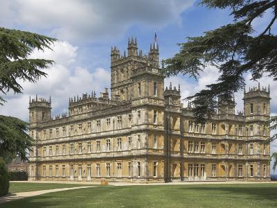 Highclere Castle, Home of Earl of Carnarvon, Location for BBC's Downton Abbey, Hampshire, England-James Emmerson-Photographic Print