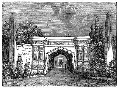 Highgate Cemetery, London, 1838--Giclee Print