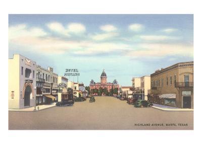 Highland Avenue, Marfa, Texas--Art Print