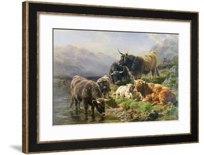Highland Cattle-William Watson-Framed Giclee Print