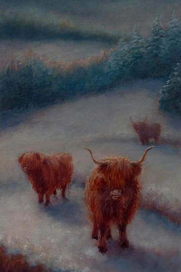 Highland Cattle-Lee Campbell-Giclee Print