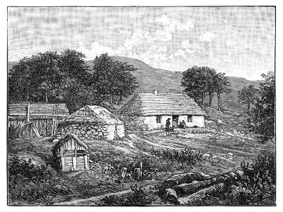 Highland Cottages in Lochaber, Scotland, 1900--Giclee Print