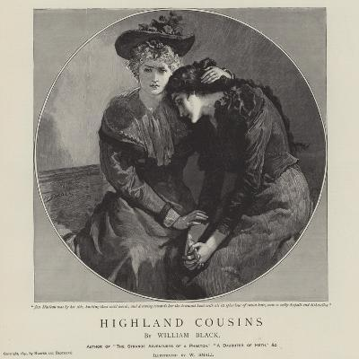 Highland Cousins by William Black-William Small-Giclee Print