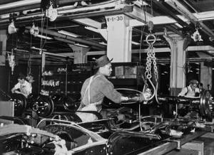 Highland Park Chassis Assembly Line, 1947