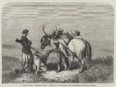 Highland Sports, Deer-Stalking Scene, from the Exhibition of the Royal Academy--Giclee Print