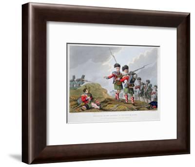 Highland troops at the Battle of Vimeiro, Peninsular War, 1808 (1816)-Matthew Dubourg-Framed Giclee Print