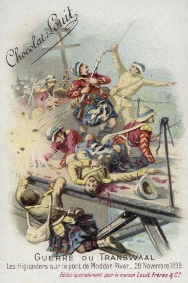 Highlanders on the Bridge over the Modder River, 28 November 1899--Giclee Print