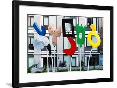Highline Park Art, Manhattan, New York City-George Oze-Framed Photographic Print