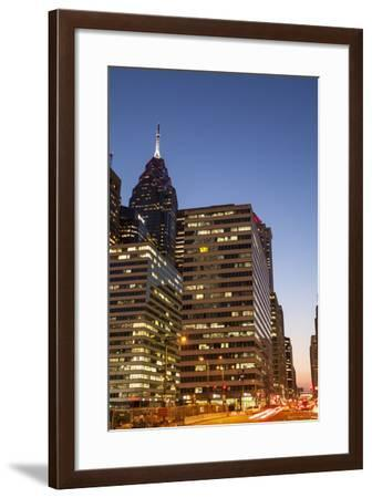 Highrise Office Towers and Hotels in the Downtown Financial District of Philadelphia-Richard Nowitz-Framed Photographic Print