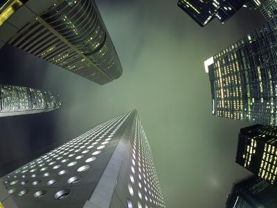 Highrises Soar over the Business District of Central on Hong Kong Island-Andrew Watson-Photographic Print