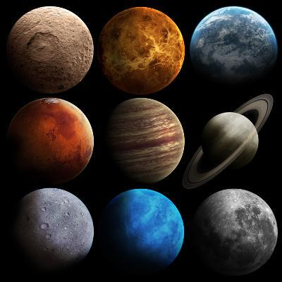 Hight Quality Solar System Planets-Vadimsadovski-Art Print
