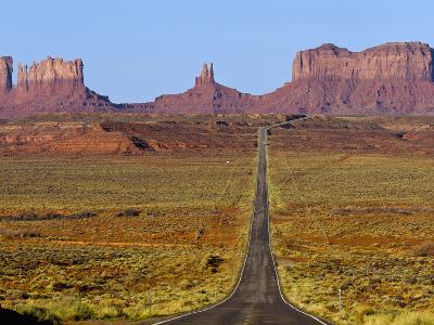 Highway 163 Leads to Monument Valley Navajo Tribal Park on the Arizona and Utah State Line, Usa-Chuck Haney-Photographic Print