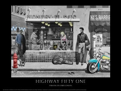 Highway 51 (Silver Series)-Chris Consani-Art Print