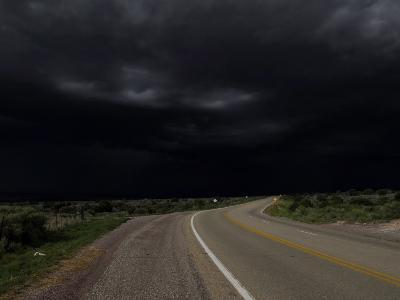 Highway 68 to Taos and Storm Clouds-Raul Touzon-Photographic Print