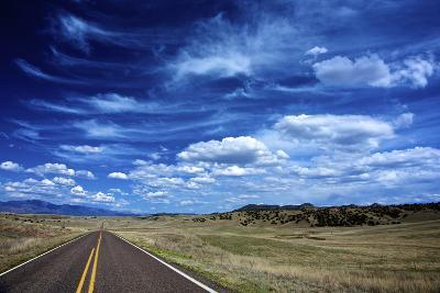 Highway 78, New Mexico, High Alpine Grasslands and Clouds-Richard Wright-Photographic Print