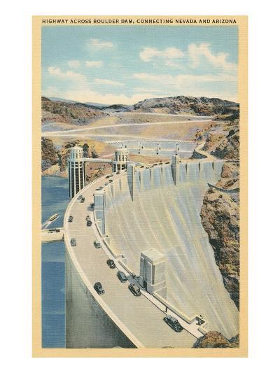 Highway across Boulder Dam--Art Print