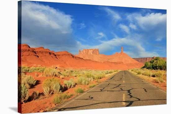 Highway Castle Valley Utah USA--Stretched Canvas Print