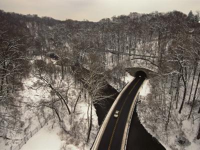Highway Crossing a Creek-Richard Nowitz-Photographic Print