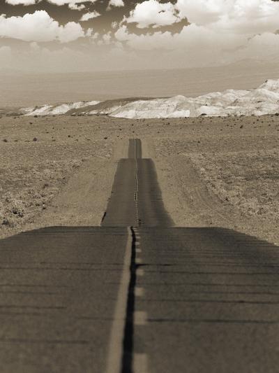 Highway Cutting Through a Desert--Photographic Print