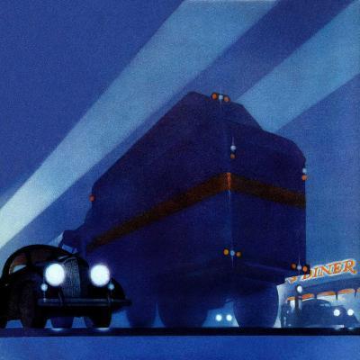 """""""Highway Diner,""""April 9, 1938-Ski Weld-Giclee Print"""