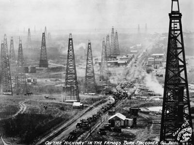 Highway in Burk-Waggoner Oil Pool