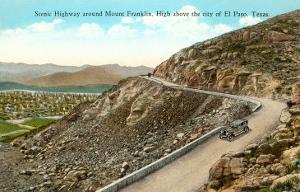 Highway on Mt. Franklin, El Paso, Texas