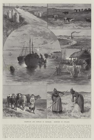 Highways and Byways in Denmark, Sketches in Jutland-Paul Frenzeny-Giclee Print