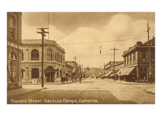 Higuera Street San Luis Obispo California Art Print By