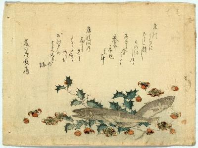 Hiiragi Ni Iwashi Ni Ume-Ryuryukyo Shinsai-Giclee Print