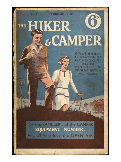 Hiker and Camper Magazine--Giclee Print