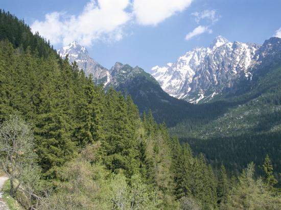 Hiker at Lomnicky Stit, High Tatra Mountains, Slovakia-Upperhall-Photographic Print