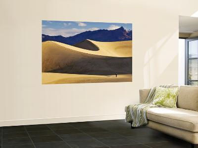 Hikers at Mesquite Flat Sand Dunes with Amargosa Range in Background-Witold Skrypczak-Wall Mural