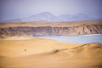 Hikers Hiking in Desert and Sand Dunes, Ica, Peru-Matthew Williams-Ellis-Photographic Print