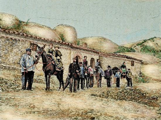 Hikers in San Jeronimo, Montserrat, Catalonia, Spain, from 'The Illustration', 1890-L. Urgelles-Giclee Print