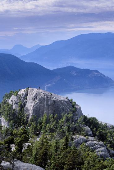 Hikers on the First Peak of the Chief in Stawamus Chief Provincial Park, Squamish, British Columbia-Paul Colangelo-Photographic Print