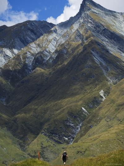 Hikers on the Rob Roy Glacier Hiking Track, New Zealand, Pacific-Christian Kober-Photographic Print