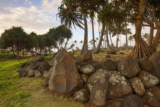 Hikina'akala Heiau, Wailua River State Park, Kauai, Hawaii, USA-Douglas Peebles-Photographic Print