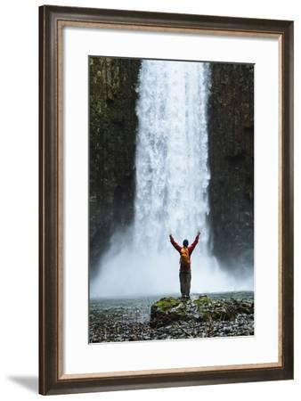 Hiking At Abiqua Falls. Willamette Valley, Oregon-Justin Bailie-Framed Photographic Print
