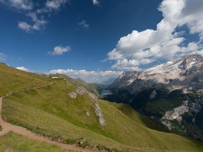 Hiking on High Route 2 in Dolomites, Bolzano Province, Trentino-Alto Adige/South Tyrol, Italy-Carlo Morucchio-Photographic Print