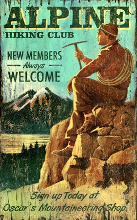Hiking Rockies Vintage