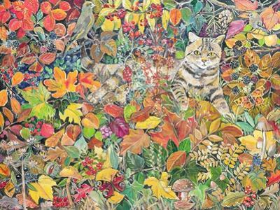 Tabby in Autumn, 1996 by Hilary Jones