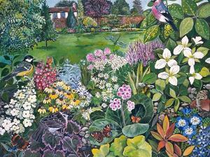 The Garden with Birds and Butterflies by Hilary Jones