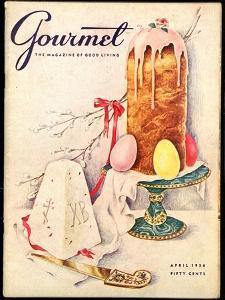 Gourmet Cover - April 1956 by Hilary Knight